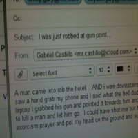 Gabe- theft email