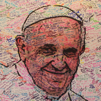 Over 6,500 youth, young adults and adults attending the 2013 National Catholic Youth Conference sent messages to Pope Francis.
