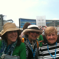 Suzanne, Peggy and Bina celebrated the conclusion of 2013 World Youth Day following the closing mass.